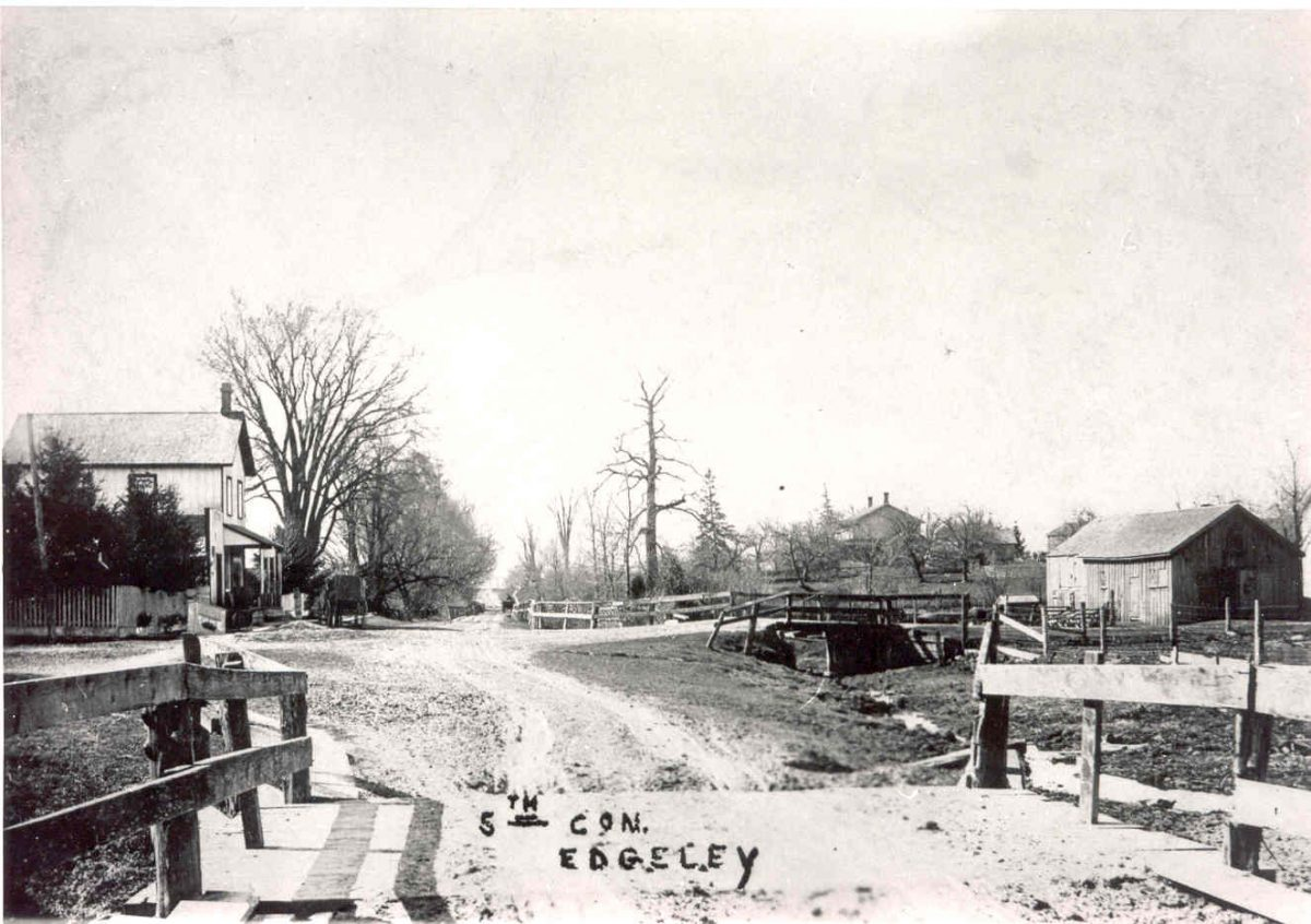 Jane Street south of Hwy 7 in the early 1900s