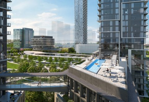View of rooftop pool at Transit City 4 and 5